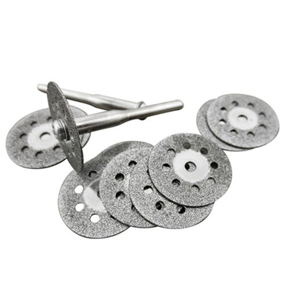 ueetek 12-en-1/10pcs 22/mm lames de scie circulaire Kit de coupe de diamant electrochapado meules disques et 2/pi/èces de port/ées de mandrin pour outil rotatif Dremel