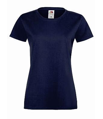 Fruit of the Loom 10er Pack Ladies Sofspun® T-Shirt Crew Neck Tshirt Damen