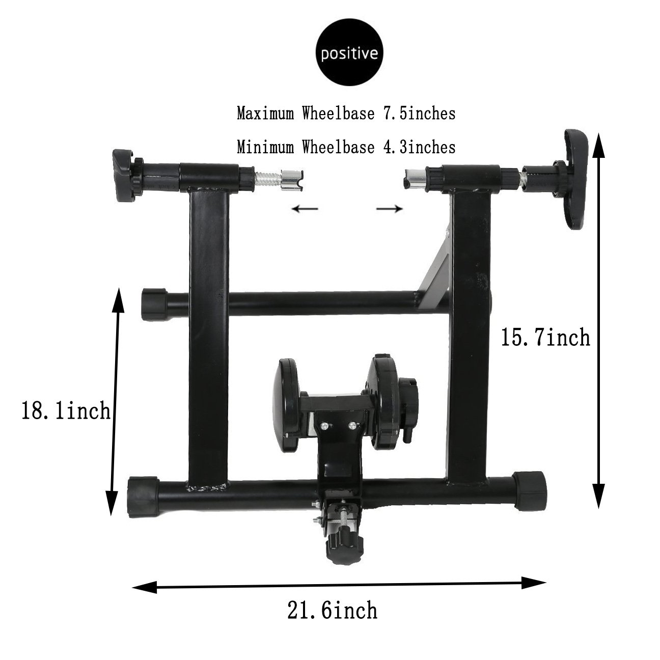 Karmas Product Exercise Resistance Bicycle Trainer Bike Magnetic Stand with Noise Reduction Wheel by Karmas Product (Image #3)