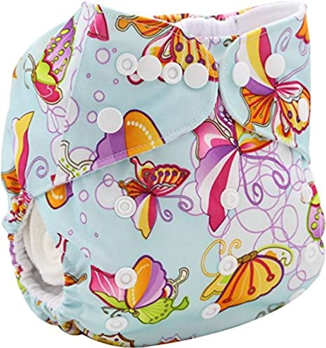 Cavalli Kids Baby Diapers Cloth Pocket Soft Velour Fitted Reusable with 1pc Insert (C1) OBNK118