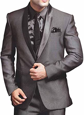 INMONARCH Tradicional Gris 6 pc Traje Novio PW224L34 44 or XS ...
