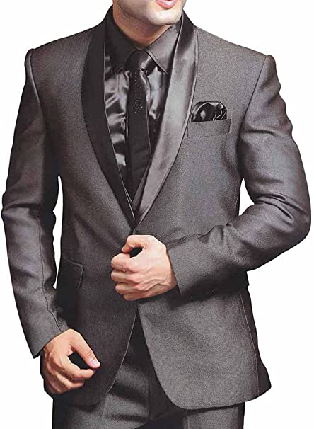 INMONARCH Tradicional Gris 6 pc Traje Novio PW224: Amazon.es ...