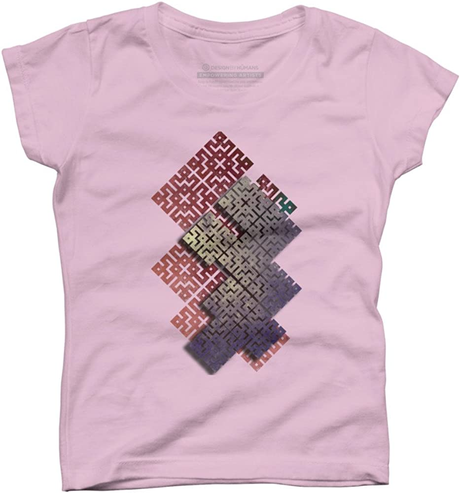 Design By Humans Geometric square Girls Youth Graphic T Shirt