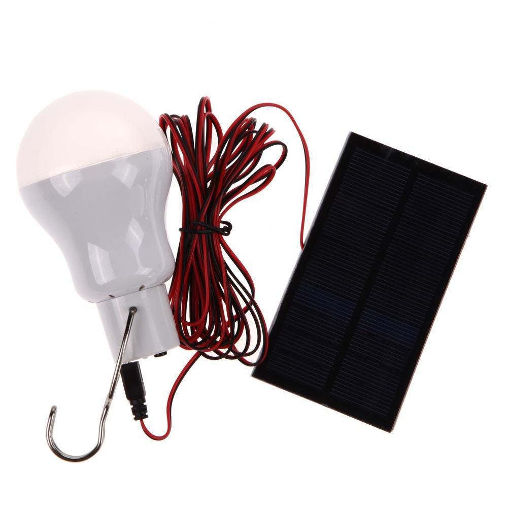 iainstarsポータブルソーラー電源LED電球ランプ屋外照明Campテント釣りランプ B07BFVKP22