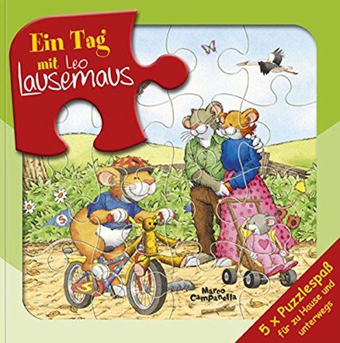 Ein Tag mit Leo Lausemaus: Puzzlebuch
