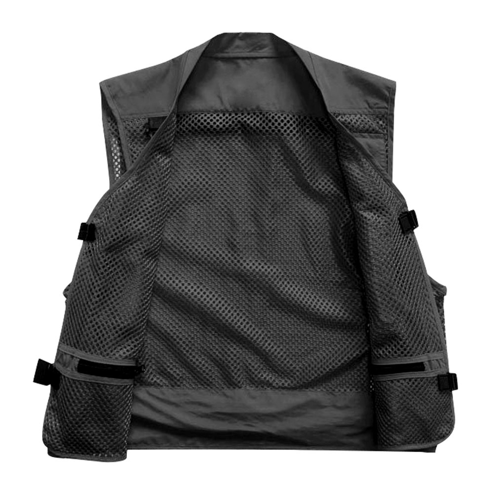 bedeabb168e5a Amazon.com   Marsway Outdoor Quick-Dry Fishing Vest Multi Pockets Mesh Vest  Fishing Hunting Waistcoat Travel Photography Jackets   Sports   Outdoors