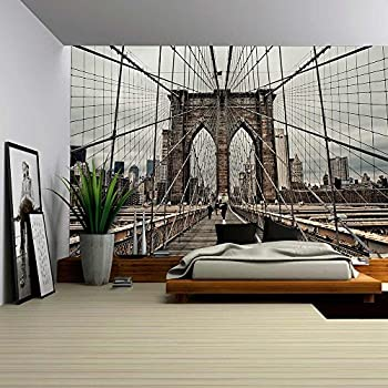 Amazoncom wall26 Brooklyn Bridge and Cable Pattern Removable
