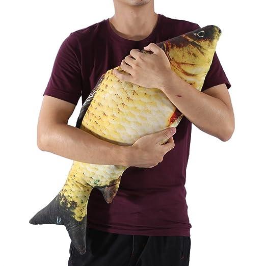 Almohada, Almohada de Pescado Suave, 3D Soft Big Fish Cojín Almohada, Almohada de Felpa Almohada de Peluche de Juguete para Decoración Regalo(60CM)