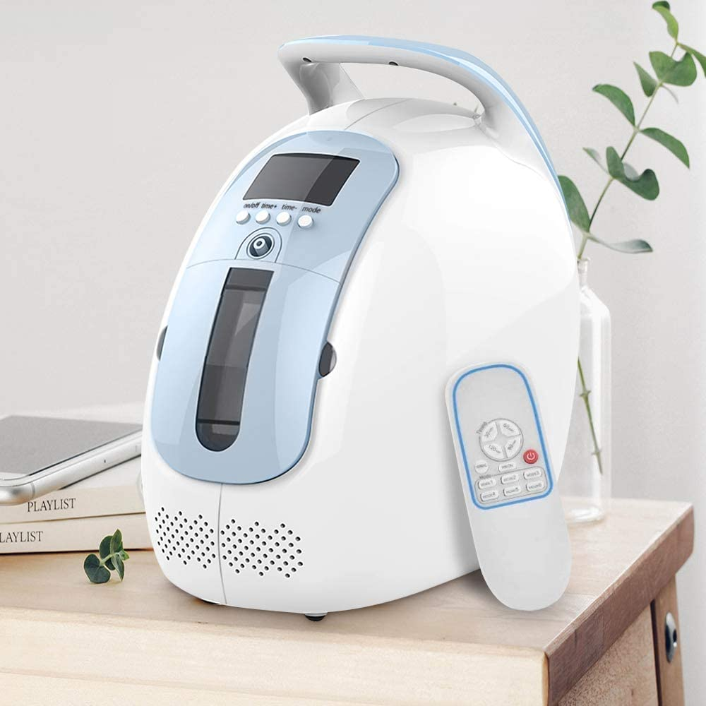 4YANG Portable Oxygen Concentrator, 220V 1-5L/min Oxygen Machine Home 90% High Purity for Home Travel Car Use (45dB)