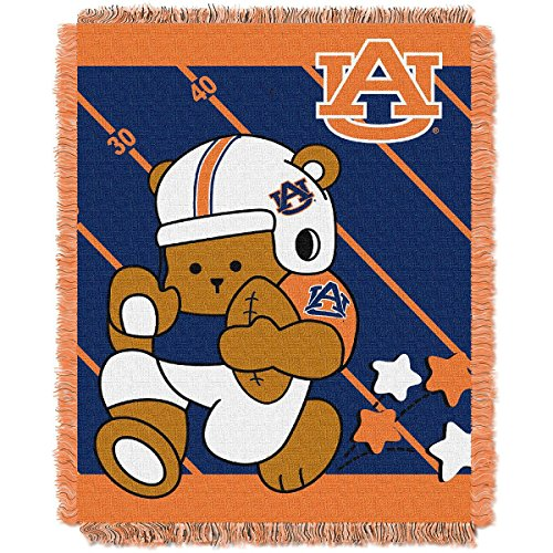 Baby Auburn Blanket Tigers - The Northwest Company Officially Licensed NCAA Auburn Tigers Fullback Woven Jacquard Baby Throw Blanket, 36