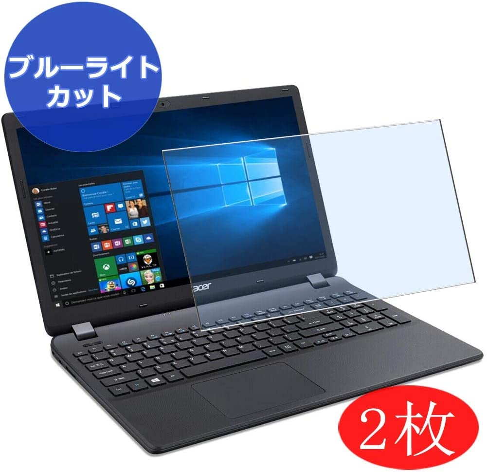 """【2 Pack】 Synvy Anti Blue Light Screen Protector for Acer Aspire ES1-533 / ES1-571 / ES1-572 15.6"""" Screen Film Protective Protectors [Not Tempered Glass]"""