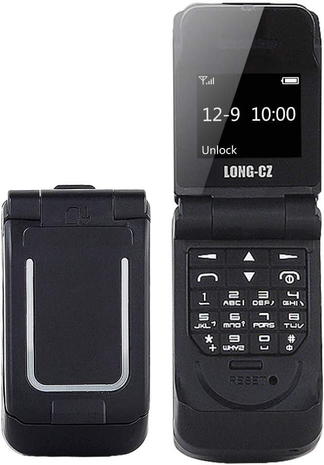 LONG-CZ J9 Mini Flip Bluetooth Dialer with Voice Changer Mobile Cell Phone (Black)