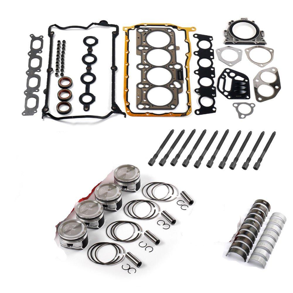 bocid Motor pistones Anillos reconstruir Set para VW Jetta Beetle Golf GTI 1.8 Turbo AWP AWM: Amazon.es: Coche y moto