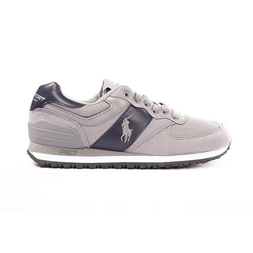 Polo Ralph Lauren - Zapatillas de Deporte para Hombre, Gris (Gris), 10: Amazon.es: Zapatos y complementos