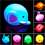 Bath Toys for Toddlers Baby 8 Pack Light Up Toys - Bathtub Toy Flashing Colourful LED Light Shower Bathtime for Kids Infants