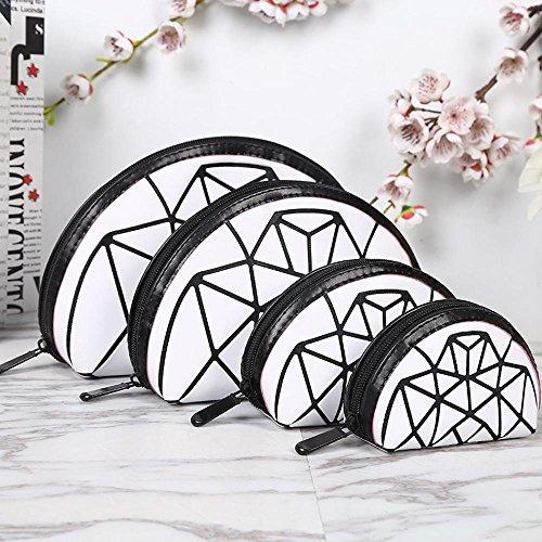 Aoligei 0 portefeuilles, quatre pièces, moitié un gommage de Dame du demi-cercle, cube Diamond Japonais-style sac à main B
