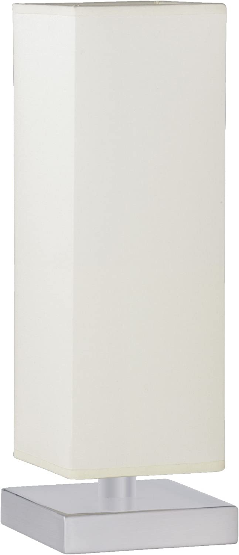 60W Nickel matt Stoffschirm grau Trio-Leuchten 5914011-42 Tischleuchte Touch ME 1xE14 max