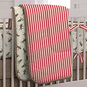 Amazon.com : Carousel Designs Sock Monkey Three-piece Crib ...