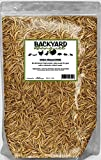 2 lb Dried Mealworms - Backyard Banquet- Treats for Chickens & Wild Birds