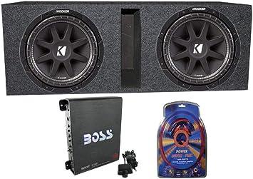 subs and amp wiring amazon com 2 kicker 43c104 10  600 watt car subwoofers box  600 watt car subwoofers box