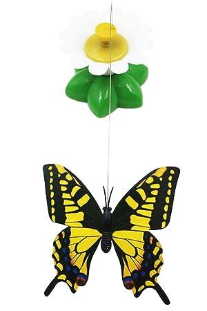 cysincos mariposa juguete Bird Juguete para gatos, mascotas gatos Funny giratoria eléctrica Flying Mariposa Pájaro interactivo gato juguete para gato y ...
