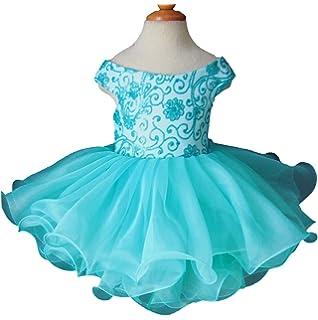 Jenniferwu Infant Toddler Baby Newborn Little Girls Pageant Party Birthday Dress 3months to size7 EB1130N