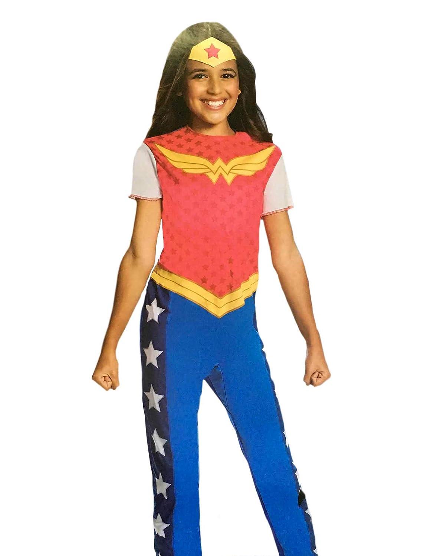 DCスーパーヒーローガールズ ワンダーウーマンコスチューム - Sサイズ (サイズ4-6)   B07J3SN21L