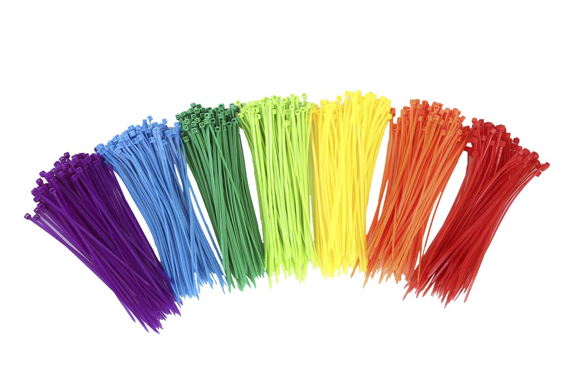 MINI SKATER 6 Inch Assorted Colored Nylon Cable Wire Ties Heavy Duty Self-Locking Zip Ties for Home Office Garage and Workshop,700 Pieces