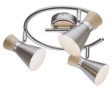 Deckenbeleuchtung LORD 2-Flammig E14 Fassung Deckenlampe Deckenstrahler Globo