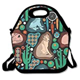 Southwest Baby Wolves Lunch Tote Bag Bags Awesome Lunch Handbag Lunchbox Box For School Work Outdoor
