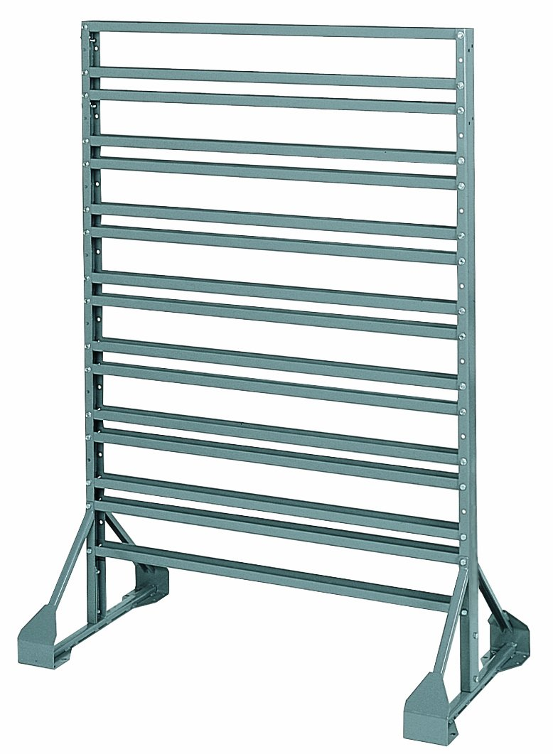 Akro-Mils 30016 Double Sided Powder Coated Steel AkroBin Rail Hanging System, 36-Inch Wide by 20-Inch Deep by 53-Inch High