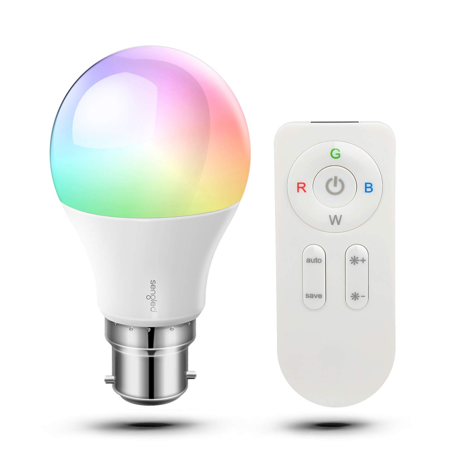 Sengled Paint Colour Changing, Dimmable LED Light Bulb Through Remote Control with E27 Edison Base,16 Mio.Colours for Christmas Party Games,2 Pack [Energy Class A +] PTA60ND8A_2P