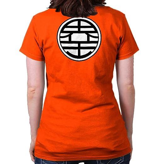 Gokus Kanji Uniform Symbol Dragon Ball Z Super Saiyan Ladies T Shirt