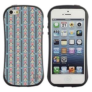 DesignCase Premium TPU / ABS Hybrid Back Case Cover Apple iPhone 5 / 5S ( cute pig )