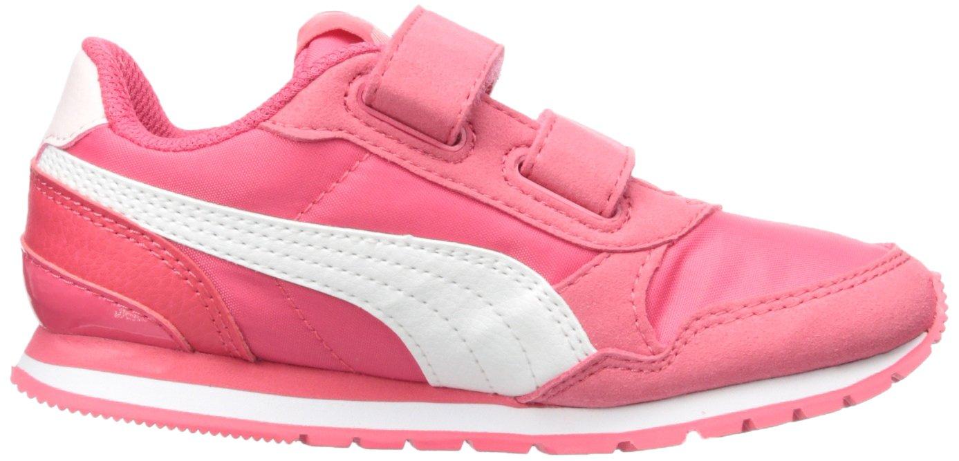 PUMA Unisex ST Runner NL Velcro Kids Sneaker Paradise Pink White, 12.5 M US Little by PUMA (Image #7)