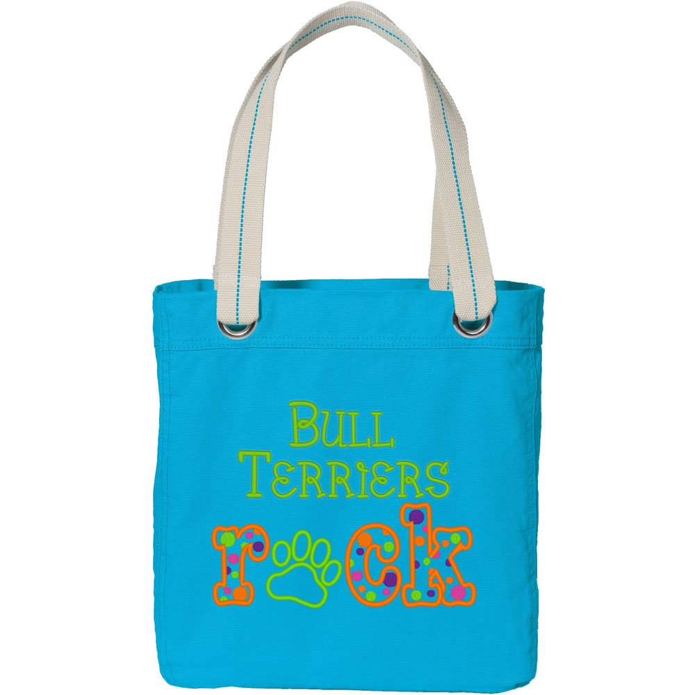 Turquoise All Breeds Cherrybrook My Breed Rocks Embroidered Tote Bags