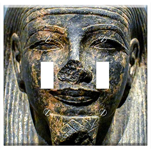 Switch Plate Double Toggle - Sculpture Statue Art Face Ancient Egyptian Museum 1