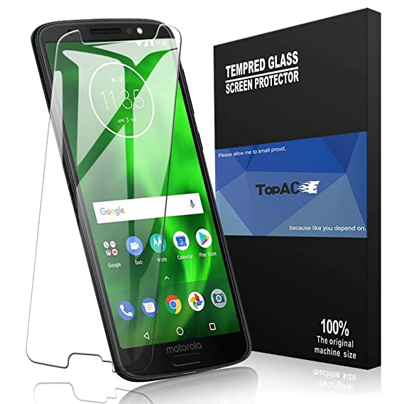 san francisco 8cbfb 69d7a TopACE for Moto G6 Screen Protector, Moto G6 Tempered Glass 9H Hardness  [Case Friendly][Anti-Scratch][Bubble Free] Compatible for Moto G6 (Clear)