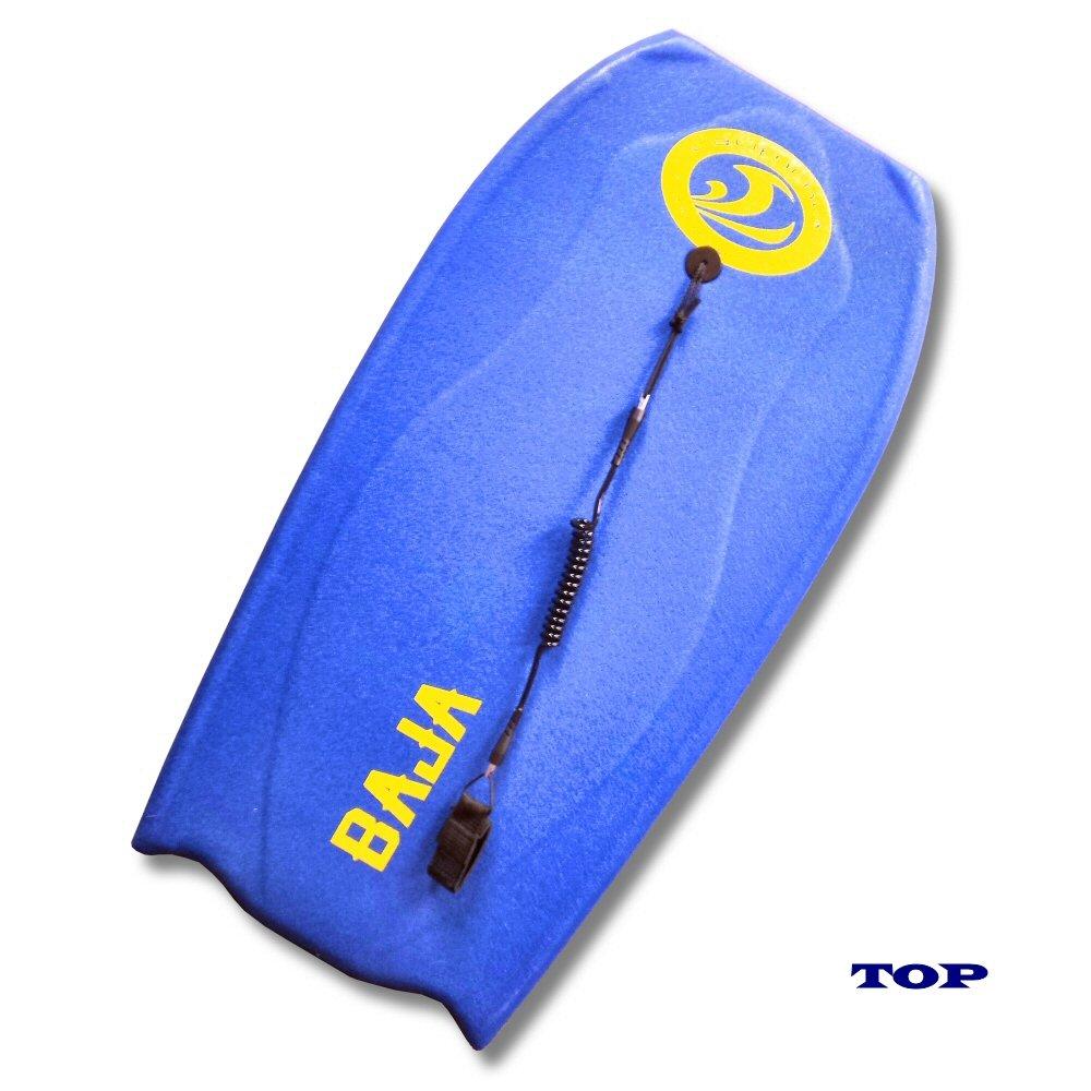California Board Company 42-1/2'' Baja Bodyboard, Blue with Yellow Bottom