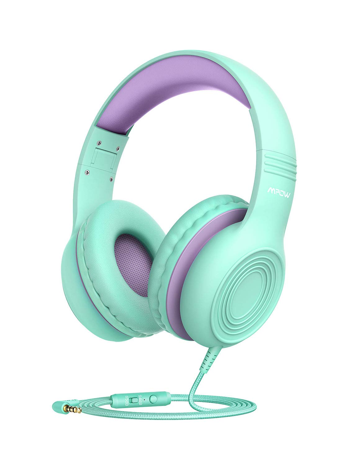 Mpow CH6 [2019 New Version] Kids Headphones Over-Ear/On-Ear, HD Sound Sharing Function Headphones for Children Boys Girls, Volume Limited Safe Foldable Headset w/Mic for School/PC/Cellphone by Mpow