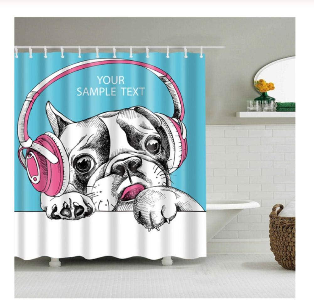 Cartoon Shar Pei Pink Headphones Listen To Music Pictures Shower Curtains For Bathroom Waterproof Bath Curtain Set Polyester Fabric Bath Decor 180x180cm Amazon Ca Home Kitchen