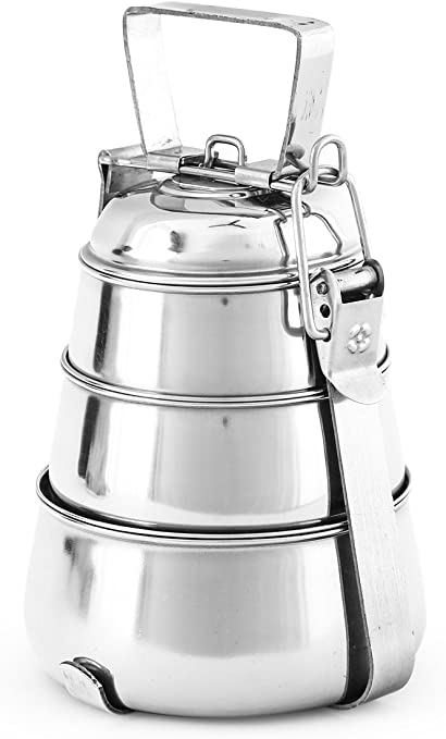Stainless Steel Pyramid Lunch Box 5 Tier Lunch Food Container Lunchbox Free Ship