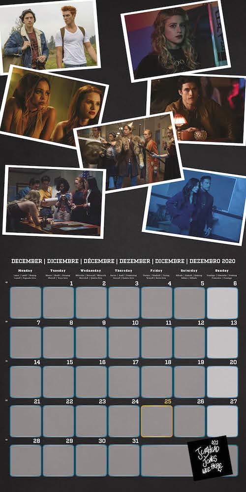 30x30 cm Calendario annuale 2020 da muro ideale per casa o ufficio include un poster in regalo Riverdale Erik/®