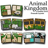 #10: ANIMAL KINGDOM Scrapbook Set - 5 Double Page Layouts