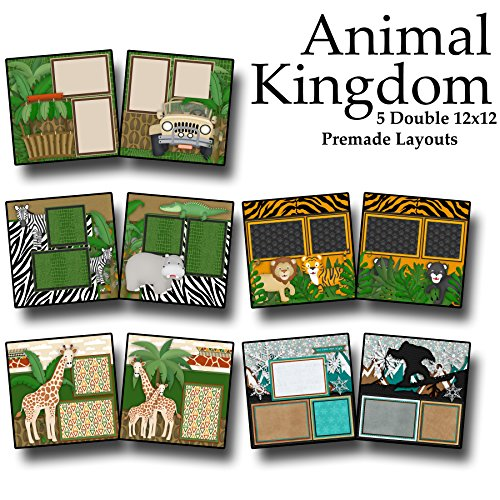 Kingdom Safari Kit (ANIMAL KINGDOM Scrapbook Set - 5 Double Page Layouts)