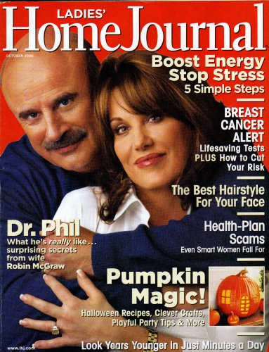 Dr. Phil McGraw Cover Ladies' Home Journal Magazine October - Shape Face Test