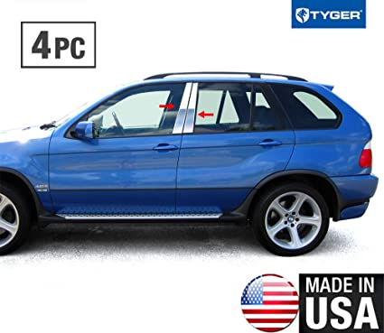 Amazon Com Made In Usa Works With 99 06 Bmw X5 4 Pc Stainless