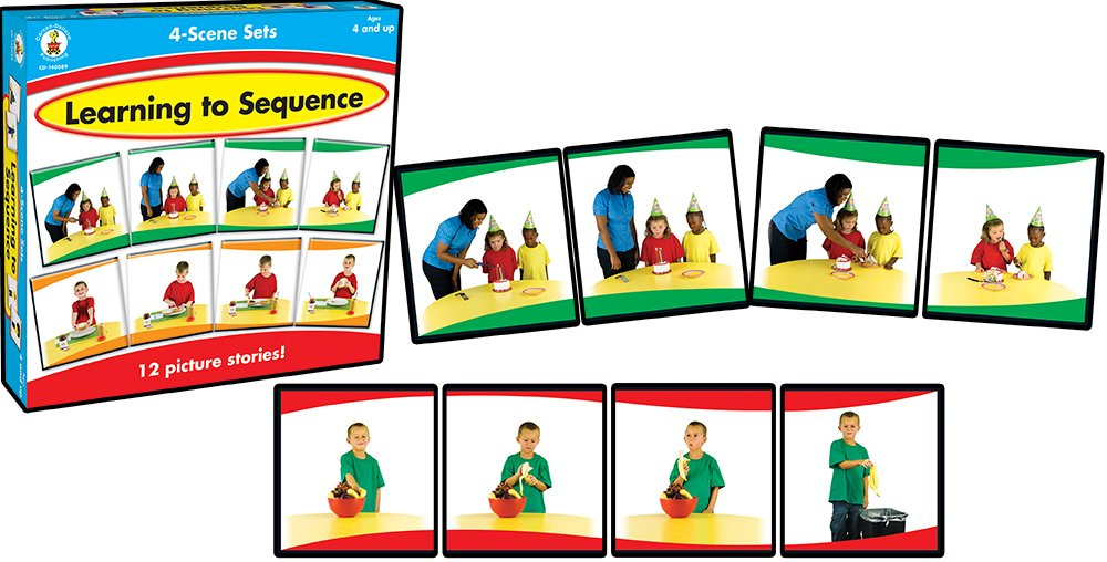Learning to Sequence 4-Scene: 4 Scene Set Carson-Dellosa 140089