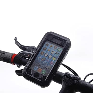 cheap for discount 866e1 ccb4c Pasway Bike Mount with Waterproof Case for iphone 5/ 5S/ iphone SE  Motorcycle Bike Handlebars, Waterproof Shockproof Bicycle Phone Holder,  Cycling ...