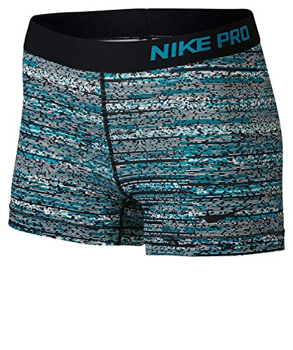 "Nike Womens Pro Circulo 3"" Training Short, (X-Large, STATIC BLUE LAGOON/BLACK)"